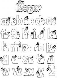 Alphabet - Mr Booger