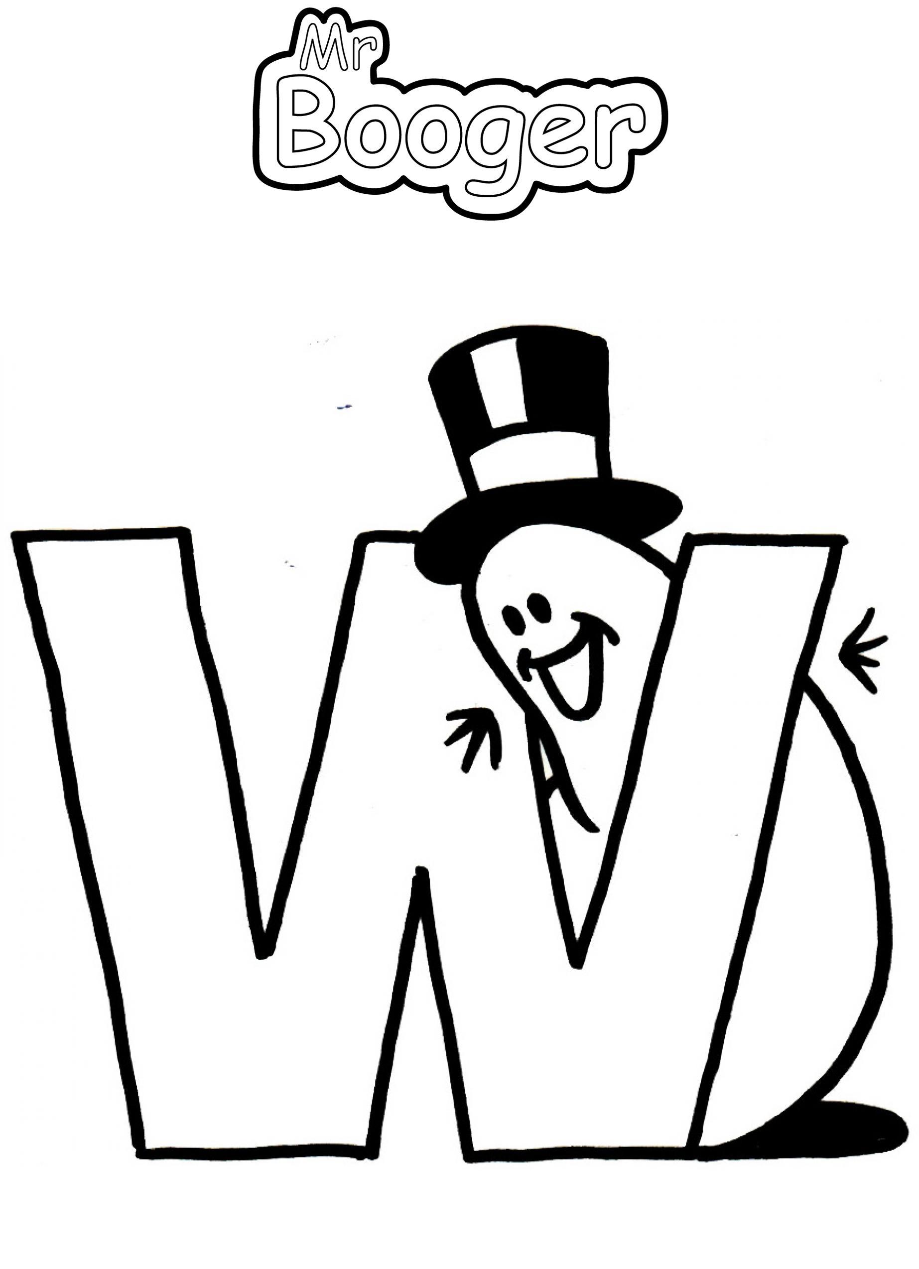 Alphabet - W
